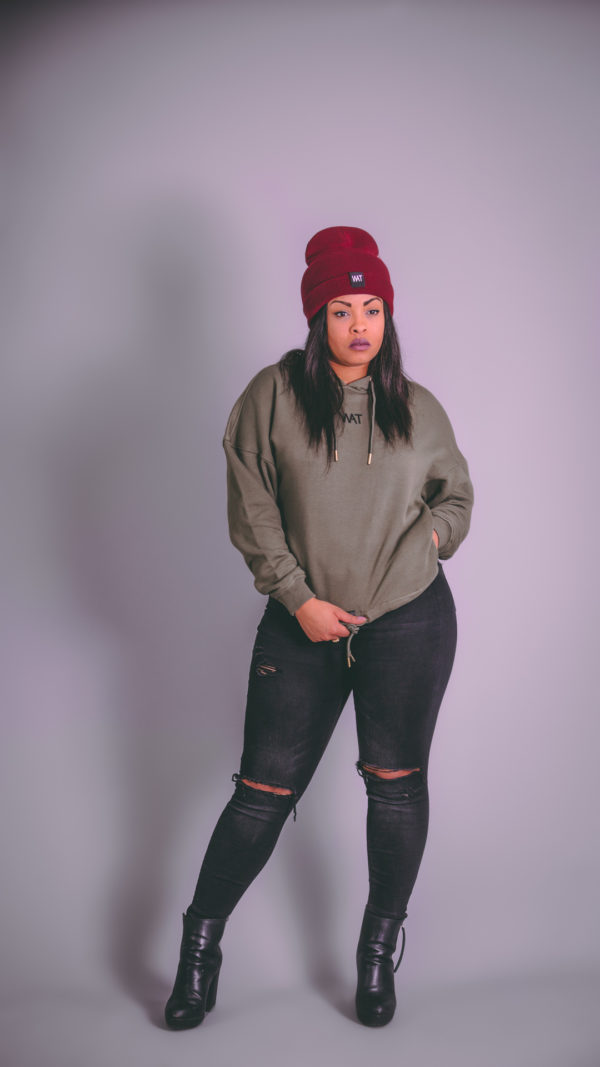 we all that women hoodie olive